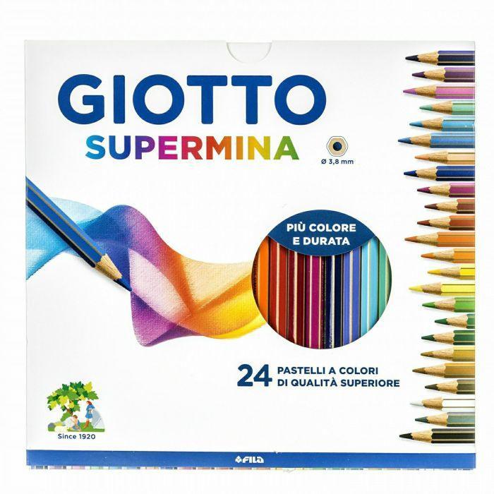 Pastelli Giotto Supermina. Scatola 24 matite colorate assortite