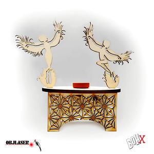 Vasetto con portavaso in legno
