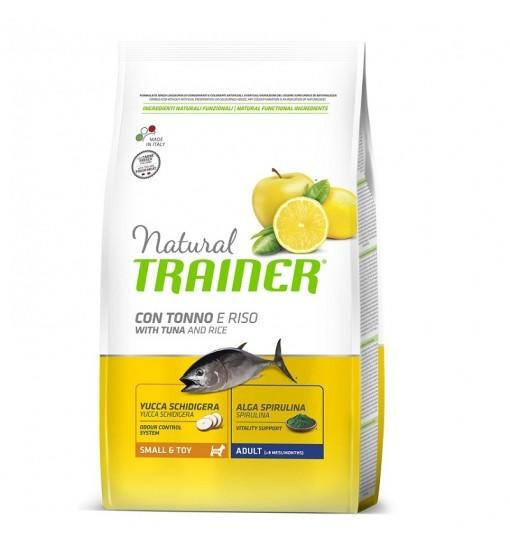 Natural Trainer Con tonno e Riso small Toy 800g Croccantini Per Cani Mini