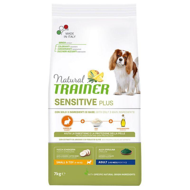 Natural Trainer Sensitive Plus Adult Mini con Coniglio 2 Kg Croccantini Per Cani