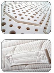 Materasso Lattice Mod. Arianne 120 Zone Differenziate Fodera Cotone Altezza Cm. 18 - Ergorelax