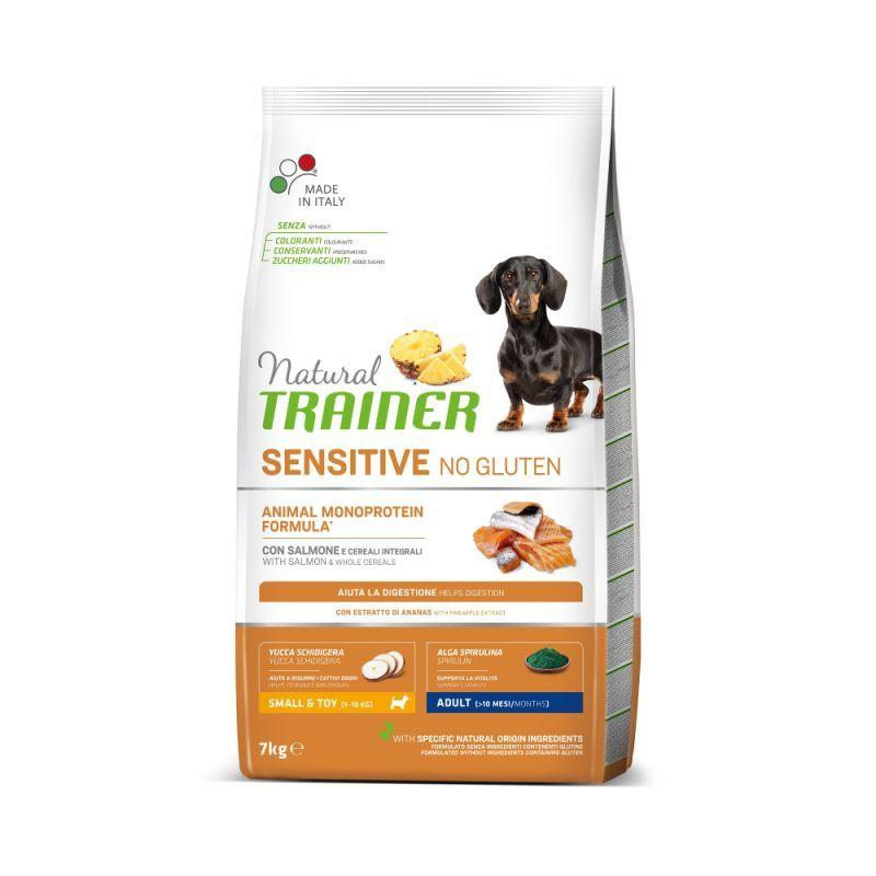 Natural Trainer Sensitive Small Salmone Monoproteico 2 kg Croccantini Per Cani Mini