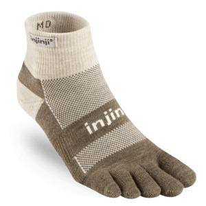 Calzini Injinji Nuwool Outdoor Mid Weight Mini Crew beige
