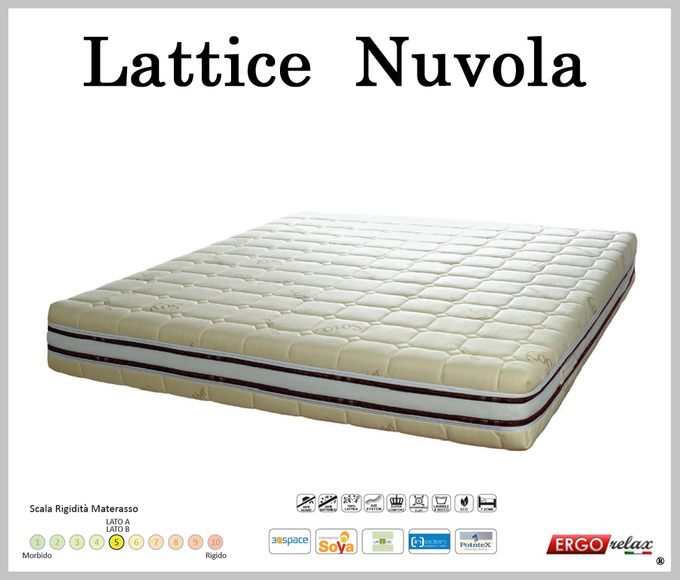 Vendita Materassi In Lattice On Line.Offerta Materasso In Lattice Mod Nuvola Matrimoniale 160 Soya