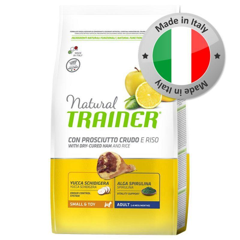Natural Trainer Small Prosciutto Crudo 2KG Crocchette Croccantini Per Cani Mini