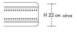 Materasso in Lattice Mod. Nuvola 140 Soya Sfoderabile Zone Differenziate Altezza Cm. 22 - Ergorelax