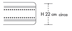Materasso in Lattice Mod. Nuvola 90 Soya Sfoderabile Zone Differenziate altezza Cm. 22 - Ergorelax