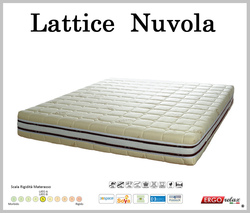 Materasso in Lattice Mod. Nuvola Singolo 80 Soya Sfoderabile Zone Differenziate - Ergorelax