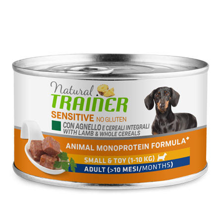 Natural Trainer Sensitive Small Toy Agnello 150g Cibo Umido Per Cani Piccola taglia