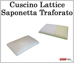 Cuscino Lattice 100% Saponetta Sfoderabile e Traforato
