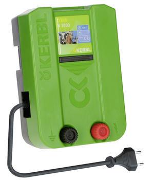 Elettrificatore a corrente 230V KERBL TITAN N 1800 1,8 J per piccoli recinti elettrici di animali domestici