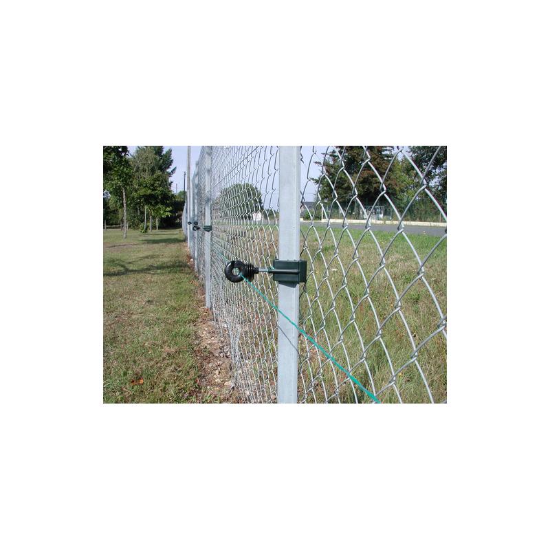 """Adattatore per paletti di recinzione in ferro a """"T"""" per isolatori a vite busta 25 pz"""