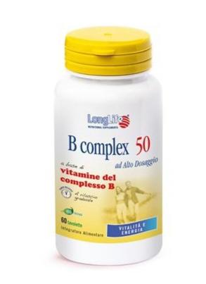B COMPLEX 50 ad alto dosaggio 60 cps - LongLife