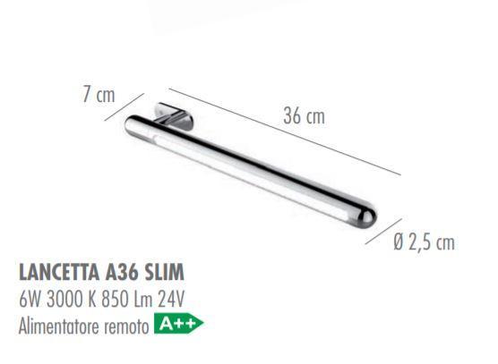 Lampada da Parete Lancetta di Febo in Metallo Lunghezza 36 cm Direzionabile Multifunzione, Varie Finiture - Offerta di Mondo Luce 24
