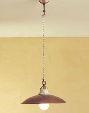 Lampada a Sospensione Emma di Febo in Metallo e Ceramica Travertino/Cotto Antico, Varie Misure e Finiture - Offerta di Mondo Luce 24