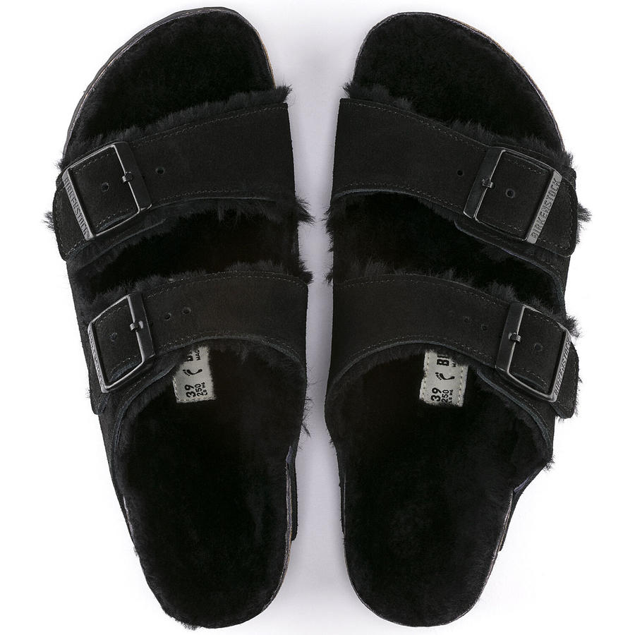 Birkenstock - Arizona Shearling - Black