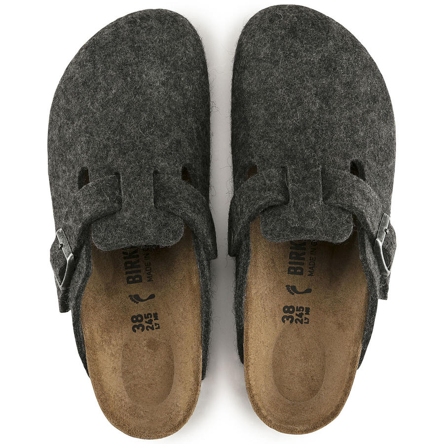 Birkenstock - Boston Wool - Anthracite