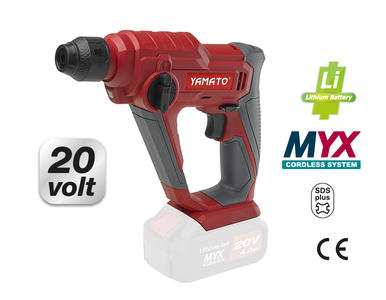 Trapano TASSELLATORE YAMATO MYX  CRH 20 L martello leggero alimentato a batteria 20 V Senza batteria (solo corpo macchina) 80159