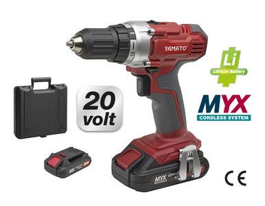 Trapano avvitatore a batterie YAMATO MYX litio CD 20 L potenza 20 v COD 53841