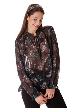 MIMi' MUA' FIRENZE blusa stampa floreale LUREX