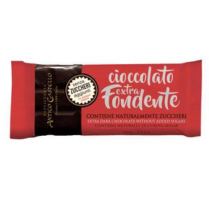 Cioccolata Fondente senza Zucchero gr.100