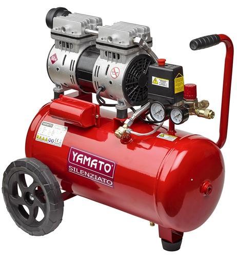 Compressore carrellato YAMATO SILENZIOSO 24 litri 1 HP cod 54431 semiprofessionale