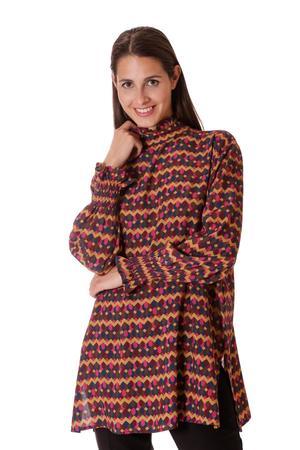 MIMi' MUA' FIRENZE blusa over stampa geometrica