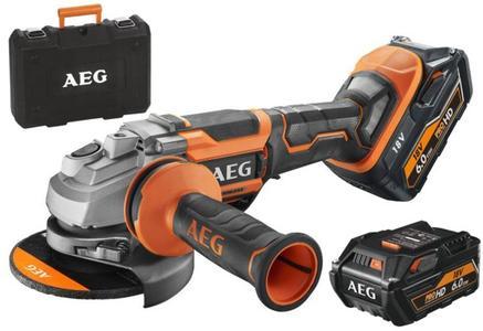 Smerigliatrice a batteria AEG BEWS 18-125BLPX + 2 batterie 6,0 AH e valigetta