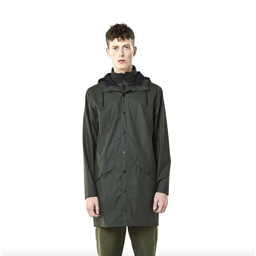 Rains Long Jacket - Green