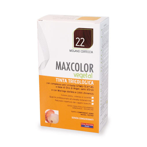 Farmaderbe - Max color vegetal 22 Mogano corteccia