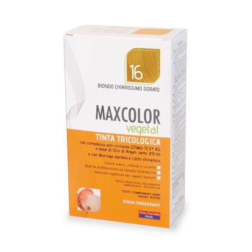 Farmaderbe - Max color vegetal 16 Biondo chiarissimo dorato