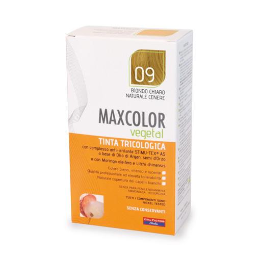 Farmaderbe - Max color vegetal 09 Biondo chiaro naturale cenere