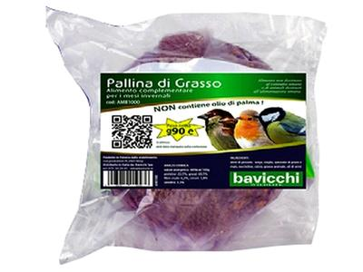 Palla di Grasso da 90 gr per Uccelli Selvatici