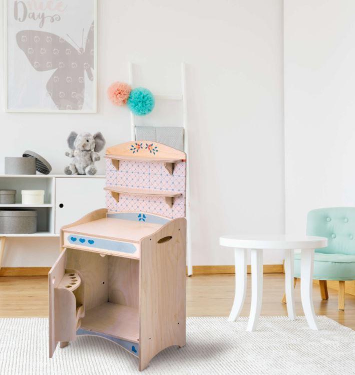 """Mobiletto """"FRIGO"""" in Legno Naturale per Cucina componibile per Bambini di Dida"""