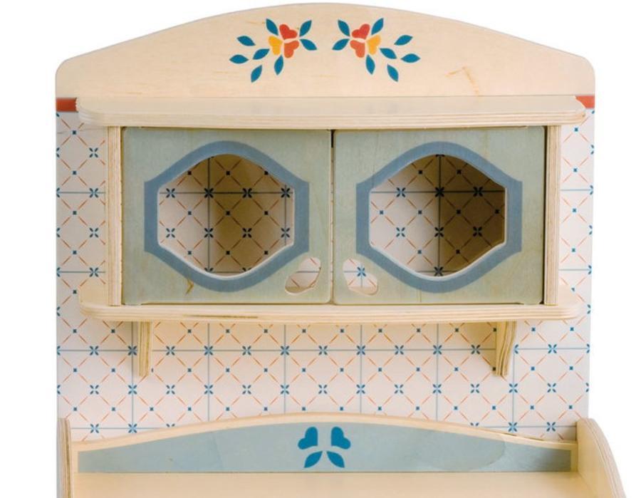 """Mobiletto """"CASSETTIERA"""" in Legno Naturale per Cucina componibile per Bambini di Dida"""