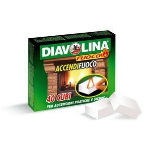 Diavolina Accendifuoco Confezione da 40 pz