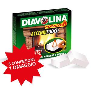 Diavolina Accendifuoco 5+1 Omaggio Confezione da 40 pz