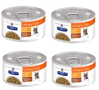 24 Lattine da 82g Hill's c/d Urinary Care Cibo Umido Per Gatti Problemi Vie Urinarie