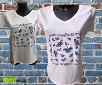 T-shirt fotocromatica Butterfly
