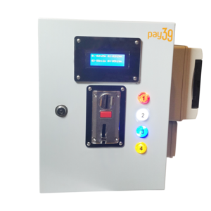 Gettoniera multimoneta per 4 impianti luce + funzione lampeggio preavviso