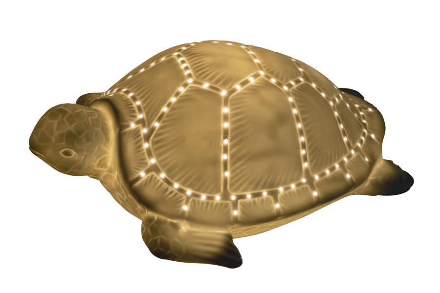 Lampada a Forma di Tartaruga in Ceramica di Artesania Esteban - Mondo Nautica 24