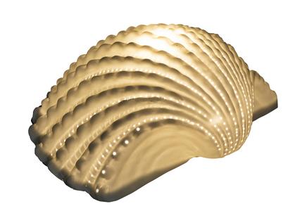 Lampada a Forma di Conchiglia di Mare in Ceramica di Artesania Esteban - Mondo Nautica 24