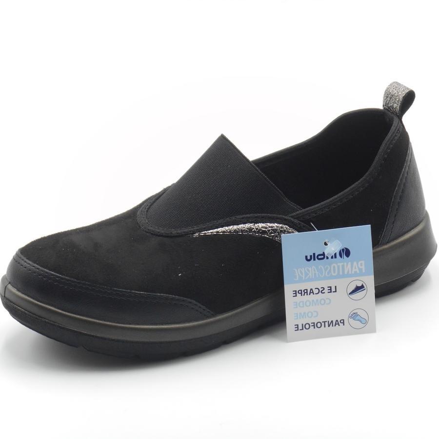 Inblu pantoscarpa nera a mocassino WG000011