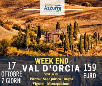Weekend in Val D'Orcia 𝐏𝐢𝐞𝐧𝐳𝐚 e 𝐒𝐚𝐧 𝐐𝐮𝐢𝐫𝐢𝐜𝐨 - 𝐁𝐚𝐠𝐧𝐨 𝐕𝐢𝐠𝐧𝐨𝐧𝐢 - 𝐌𝐨𝐧𝐭𝐞𝐩𝐮𝐥𝐜𝐢𝐚𝐧𝐨