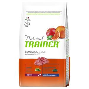 Natural Trainer Adult Medium Manzo Riso 12 KG Croccantini Per Cani Adulti