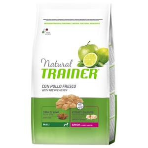 Natural Trainer Maxy Junior Pollo 12 KG Croccantini Per Cani Cuccioli 9-24 Mesi