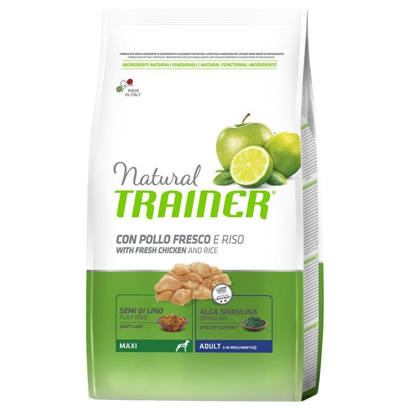 Natural Trainer Maxy Adult Pollo Fresco 12 KG Croccantini Per Cani Adulti