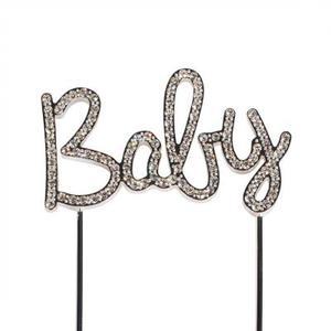 """Cake topper glitter """"Baby"""""""
