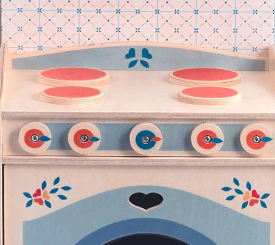 """Mobiletto """"CUCINA"""" in Legno Naturale per Cucina componibile per Bambini di Dida"""