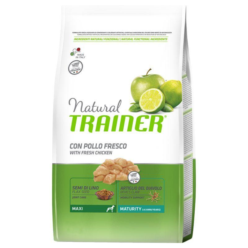 Natural Trainer Maxy Adult Maturity Pollo 12 Kg Croccantini Per Cani Anziani